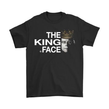AUGUAU The King Of Horror Face Logo North Face Style Stephen King Shirts