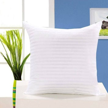 New 18'' 45CM White Square Cushion Pillow Inner Pad Insert Quality Material