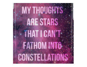 My Thoughts Are Stars iPhone Cases & Skins