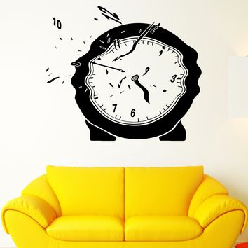 Wall Vinyl Sticker Decal Clock Time Flies Melts Arrows Surrealism Dial Unique Gift (ed418)