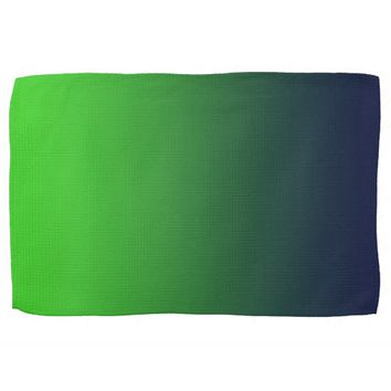 Lime green Forest green Green Oxford Blue Towel