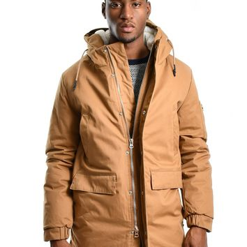 "Bellfield ""Alliance"" Sherpa Lined Parka - Camel"