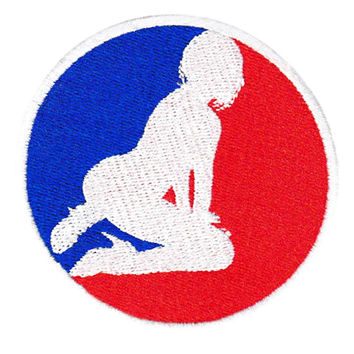 Major League Sexy Girl 8cm Lady Patch Badge Stripper Nude for Cap Hat Shirt Club DJ Applique