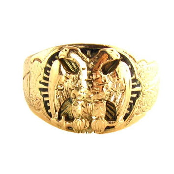 Scottish Rite Masonic Gold Ring