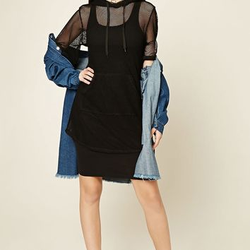 Hooded Mesh Tunic