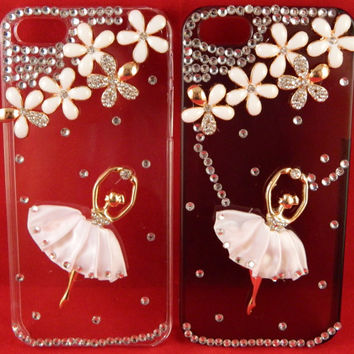 iPhone 5 Ballerina Ballet Dance Bejeweled Rhinestone Case