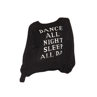 Dance All Night, Sleep All Day Sweater by WILDFOX - FINAL SALE