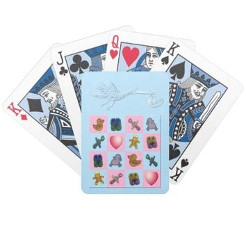 Blue Stork Baby Shapes Bicycle Playing Cards