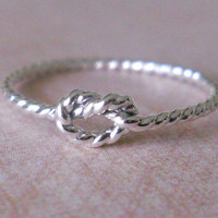 Love Knot Ring Twisted Love Knot Sterling Love Knot Ring