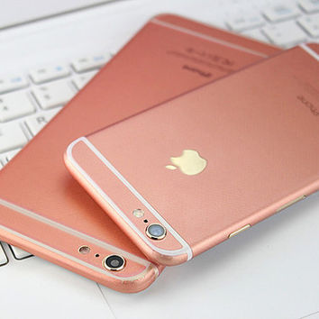 Rose Gold Pink Decal Wrap Skin Set Apple iPhone 6 6s 6 Plus Korea