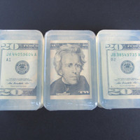 Money Soap Twenty dollar bill President Jackson soap