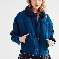 UO Eleanor Faux-Fur Collar Flight Jacket | Urban Outfitters