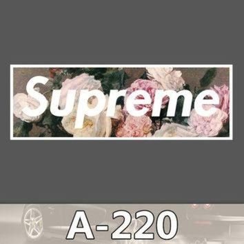 A-220 Supreme Waterproof DIY Stickers For Laptop Luggage Fridge Skateboard Car Graffit