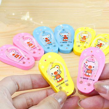 Fantastic Novelty Little Slipper Rubber Eraser Creative Kawaii Stationery School Supplies Papelaria Gift For Kids Free Shipping