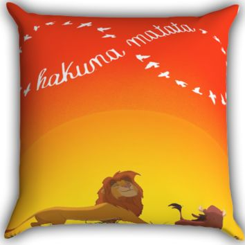 Disney, the lion king hakuna matata Zippered Pillows  Covers 16x16, 18x18, 20x20 Inches