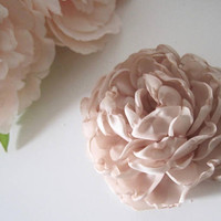 Champagne Satin Peony Bridal Flower Hair Clip Bridal Accessories Bride Bridesmaid Prom Wedding Accessories Flower Hair Clips