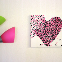 Butterfly Canvas Art, Canvas Art, 3d butterfly canvas, butterfly art, Nursery Canvas art, abstract canvas, canvas wall, butterfly, Pink