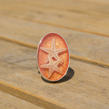 Beach collection starfish ring
