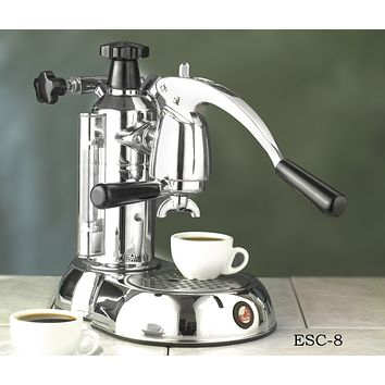 "la Pavoni ""Stradivari"" Lever Press Home Espresso and Cappuccino Machine 8 and 16 Cup"