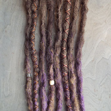 8 Custom Crocheted Dreads With Acesssories Beads Bohemian Hippie Synthetic Dreadlocks Ombre