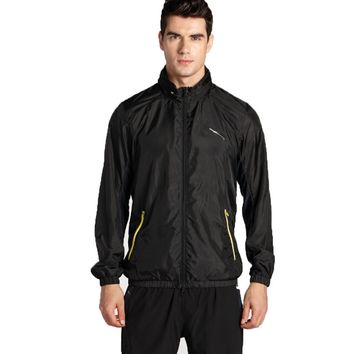Men's Long Sleeve Athletic Jacket for Sports Running Travelling