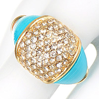 Turquoise Crystal Ring