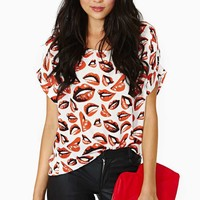 Nasty Gal Hot Kisses Tee