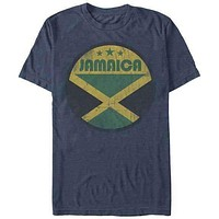 Jamaica Retro Circle Mens T-Shirt