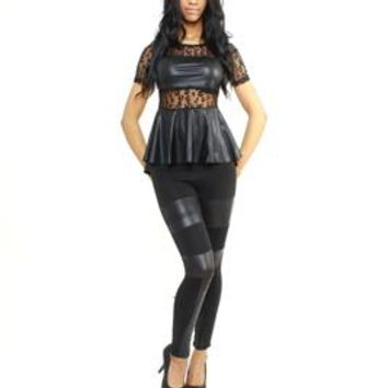 Rawr Peplum Top