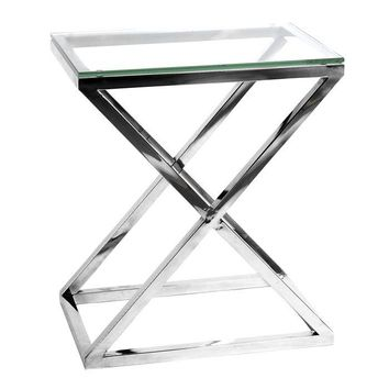Glass Side Table | Eichholtz Criss Cross