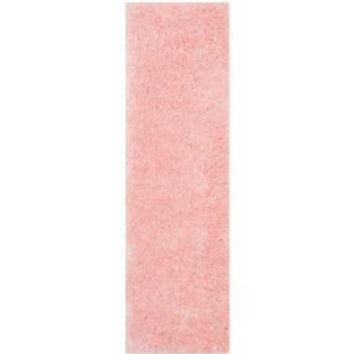 Safavieh Arctic Shag Pink 2 ft. 3 in. x 6 ft. Rug Runner SG270P-26 at The Home Depot - Mobile