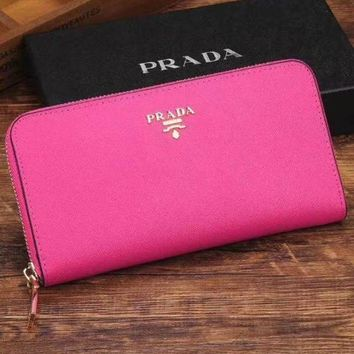 PEAPJ3V Prada Women Fashion Leather Zipper Wallet Purse-12