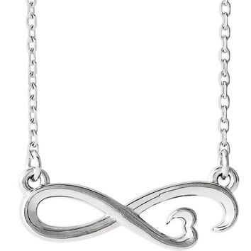 "Infinity-Inspired Heart 16-18"" Necklace"