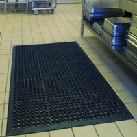"Indoor Commercial Heavy Duty Anti-Fatigue Kitchen Bar Floor Mat Black 36"" * 60"""