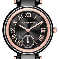 Women's MICHAEL Michael Kors 'Mini Skylar' Bracelet Watch, 33mm - Black/ Rose Gold