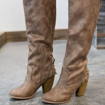 DCCKGE8 Not Rated Sass It Up Boot - Taupe