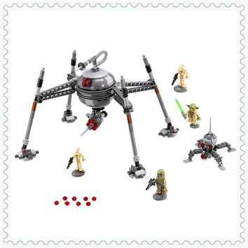 Star Wars Force Episode 1 2 3 4 5 LEPIN 05025  Homing Spider Droid Master Building Block Compatible Legoe 320Pcs Educational  Toys For Children AT_72_6