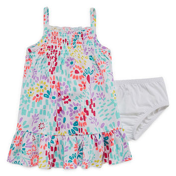 Okie Dokie Sleeveless Smocked Dress Baby Girls JCPenney