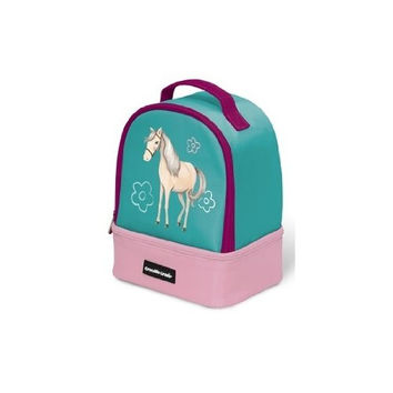 Crocodile Creek Eco Kids Horse Insulated Two Compartment Girls' with Handle Lunchbox, 9.5""