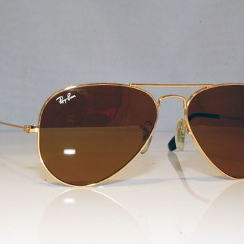 RAY-BAN Mens Designer Sunglasses Gold Aviator RB 3025 001/33 16544