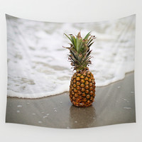 Pineapple Shores Wall Tapestry by Lo Photo