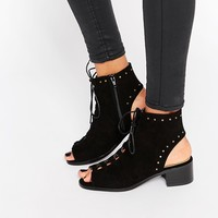 Truffle Collection Lace Up Bootie Mid Heeled Sandals