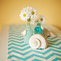 Appleberry Attic Chevron Table Runner Collection (Turquoise) Handmade in USA
