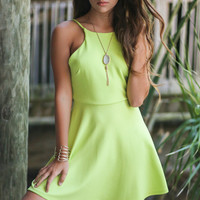 Bora Bora Lime Green Dress
