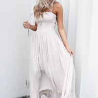 Chasing A Feeling Natural Maxi Dress