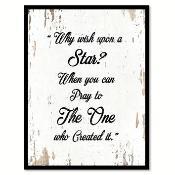 Why Wish Upon A Star Quote Saying Gift Ideas Home Decor Wall Art 111634