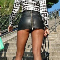 Bodycon Leather High Waist Skirts