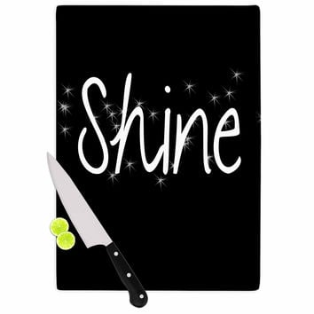 "Suzanne Carter ""Shine"" Black White Cutting Board"