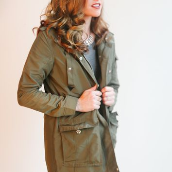 Plus Size Parker Lightweight Hooded Jacket - 4 Colors!