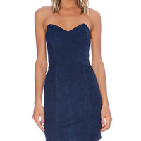 Myne Ridge Strapless Dress in Blue